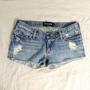 Abercrombie Girls Light Wash Low Rise Shorts